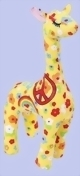 Giraffe Canvas Peace 25cm