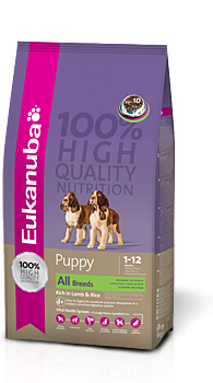 EUK Puppy & Jun. rich in Lamb & Rice  15KG/Sack