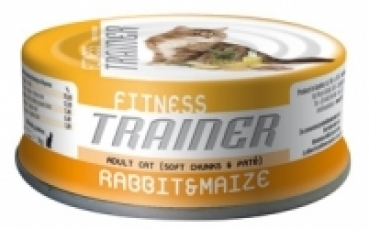 Trainer FITNESS 3 Adult RABBIT & MAIZE  10 x 80 g Dose