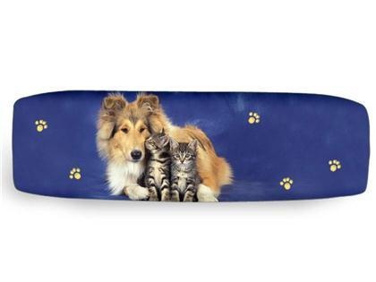 Collie/2 Katzen Federmappe Colorline, Smile-Bags 23x7cm
