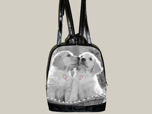 Rucksack, Labradors in Love, Retro, 27,5x12x31,5cm