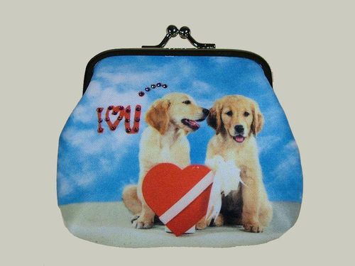 Labradors in Love Clipgeldbörse, Mario Moreno, Colorline, Smile-Bags 10x9cm