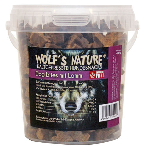 Wolf's Nature Dog bites  400 gr. Snack