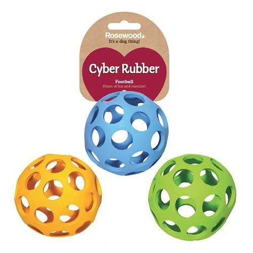 Rosewood Cyber Rubber Football