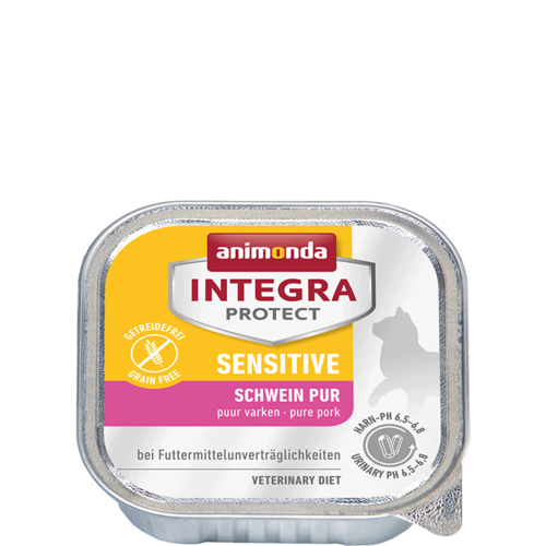 Animonda Katze Integra Protect Sensitive Adult Schwein pur  16 x 100 g