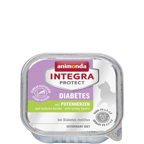 Animonda Katzen Integra Protect Diabetes Adult mit Putenherzen 16 x 100 g