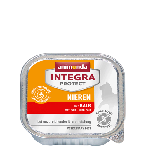 Animonda Katze Integra Protect Nieren Adult mit Kalb 16 x 100g
