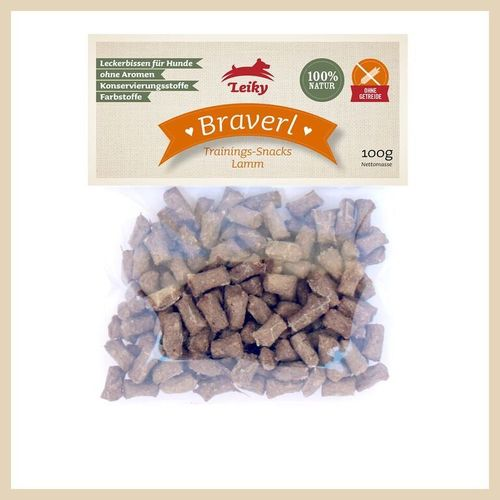 Leiky Braverl Lamm Trainings-Snacks  10 x 100g