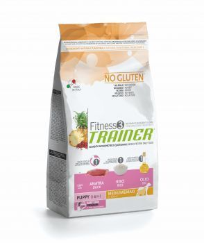 NOVA FOODS TRAINER Fitness3 - Puppy Medium & Maxi - Duck & Rice 29%-15,5%