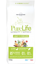 PRO NUTRITION PURE LIFE LIGHT / STERILIZED Hund