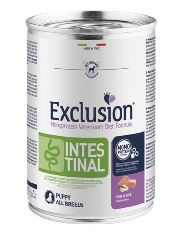 Exclusion Schwein & Reis Puppy Intestinal 400g
